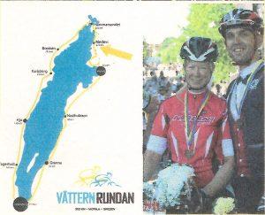 Franzi u. Henning Badrow bei der VätternRundan in Schweden